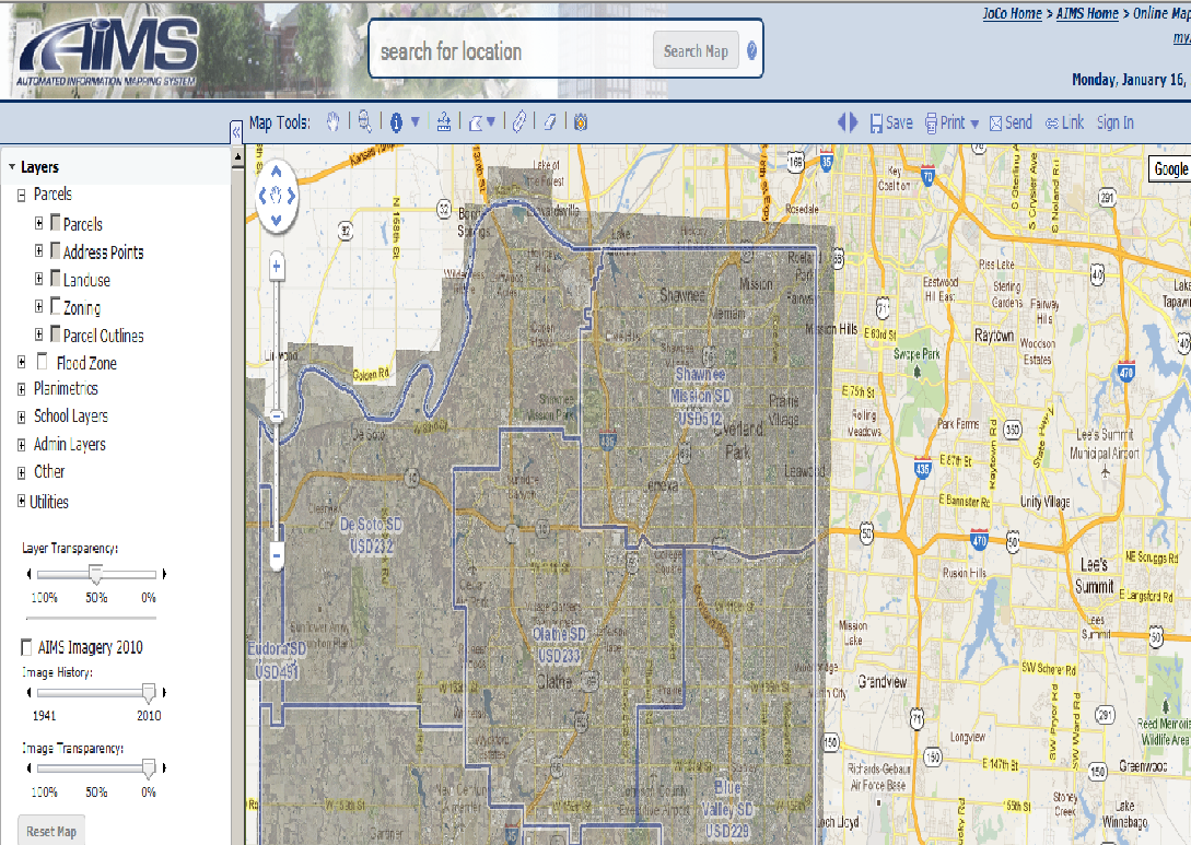 Kansas johnson county real estate taxes - Johnson County Ks School District Map