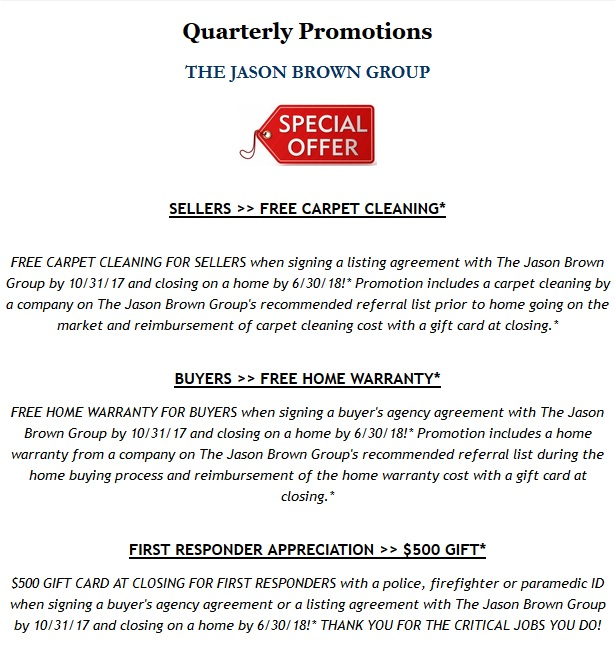 Promotion the pulse of the kansas city real estate market free 1 year buyer home warranty free seller carpet cleaning thank you gift for first responders the jason brown groups quarterly promotions promotion platinumwayz